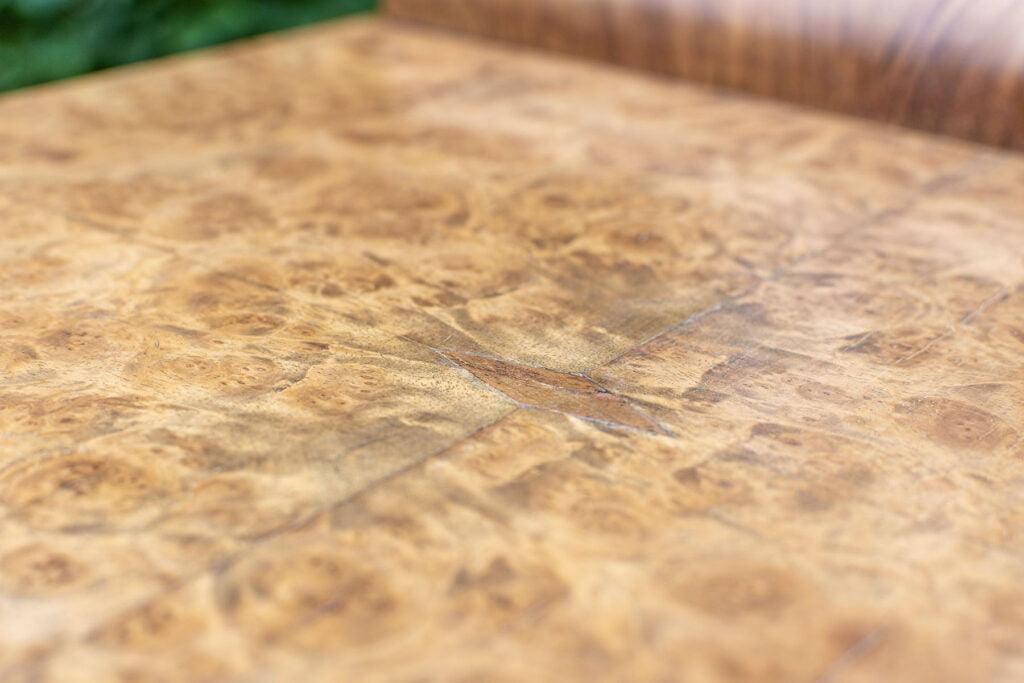 Plateau de meuble après restauration